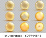 set of transparent and opaque... | Shutterstock .eps vector #609944546