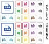 nrg file format color flat... | Shutterstock .eps vector #609944846