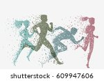 running people. fitness... | Shutterstock .eps vector #609947606