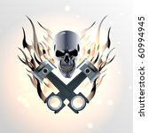 emblem for moto or auto of... | Shutterstock .eps vector #60994945