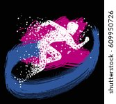 running man. sport fitness...   Shutterstock .eps vector #609950726