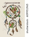 beautiful hand drawn vector... | Shutterstock .eps vector #609951965