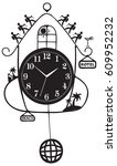 travel symbol   clock with... | Shutterstock .eps vector #609952232
