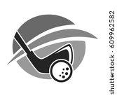 golf club vector logo template...   Shutterstock .eps vector #609962582
