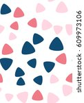 seamless pattern with triangles....   Shutterstock .eps vector #609973106