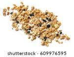 crunchy granola or muesli... | Shutterstock . vector #609976595