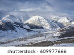 high angle panorama of charming ...   Shutterstock . vector #609977666