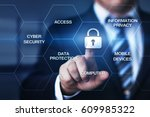 cyber security data protection... | Shutterstock . vector #609985322