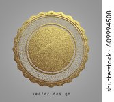 vector illustration. gold... | Shutterstock .eps vector #609994508