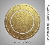 vector illustration. gold... | Shutterstock .eps vector #609995942
