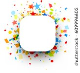 white square festive background ... | Shutterstock .eps vector #609996602