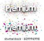 premium paper banners with... | Shutterstock .eps vector #609996998