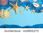 marine blue background with... | Shutterstock . vector #610002272