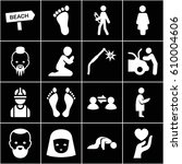 person icons set. set of 16... | Shutterstock .eps vector #610004606