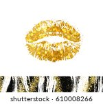 vector eps 10. golden glitter... | Shutterstock .eps vector #610008266