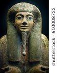 egyptian portrait sarcophagus | Shutterstock . vector #610008722