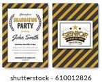 graduation party vector... | Shutterstock .eps vector #610012826