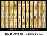 set of gold gradients.metallic... | Shutterstock .eps vector #610016942