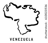 venezuela map outline   smooth...   Shutterstock .eps vector #610023536