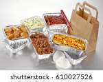 chinese food takeaway selection | Shutterstock . vector #610027526