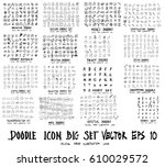 mega set of doodle. super... | Shutterstock .eps vector #610029572