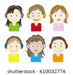 music kids  set   six variation ... | Shutterstock .eps vector #610032776