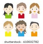 children of the world  set  ... | Shutterstock .eps vector #610032782
