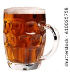 pint of ale cut out | Shutterstock . vector #610035758