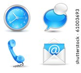 office  icons   clock  handset  ... | Shutterstock .eps vector #61003693