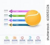 vector tennis ball infographics ...   Shutterstock .eps vector #610052126