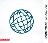 globe vector icon  vector best...   Shutterstock .eps vector #610063952