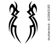tattoos art spikes arm sleeve... | Shutterstock .eps vector #610065185