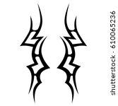tattoo sketch tribal vector...   Shutterstock .eps vector #610065236