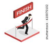 simple cartoon of a businessman ... | Shutterstock .eps vector #610070102