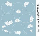 set of cute floral frames....   Shutterstock .eps vector #610072256