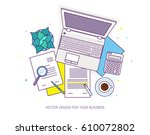 flat design baners for online...   Shutterstock .eps vector #610072802