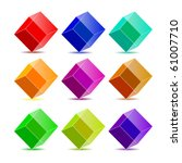 vector collection colorful cubes | Shutterstock .eps vector #61007710