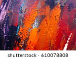 painted abstract background  | Shutterstock . vector #610078808