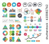 business charts. growth graph.... | Shutterstock .eps vector #610082762