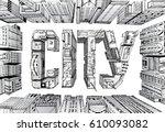 modern city illustration....   Shutterstock .eps vector #610093082