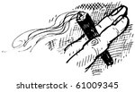 cigar between two fingers sketch | Shutterstock .eps vector #61009345
