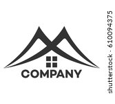 real estate logo and m company... | Shutterstock .eps vector #610094375
