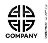 l and a company linked letter... | Shutterstock .eps vector #610094612