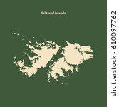 outline map of falkland islands....   Shutterstock .eps vector #610097762