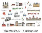budapest hungary attraction... | Shutterstock .eps vector #610102382