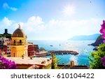 romantic seascape in...   Shutterstock . vector #610104422