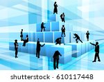 a team of businesspeople... | Shutterstock . vector #610117448