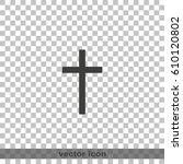 christian cross. | Shutterstock .eps vector #610120802