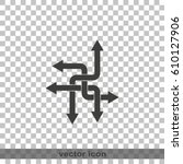 direction arrows sign. movement ...   Shutterstock .eps vector #610127906