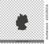 germany map. | Shutterstock .eps vector #610130216